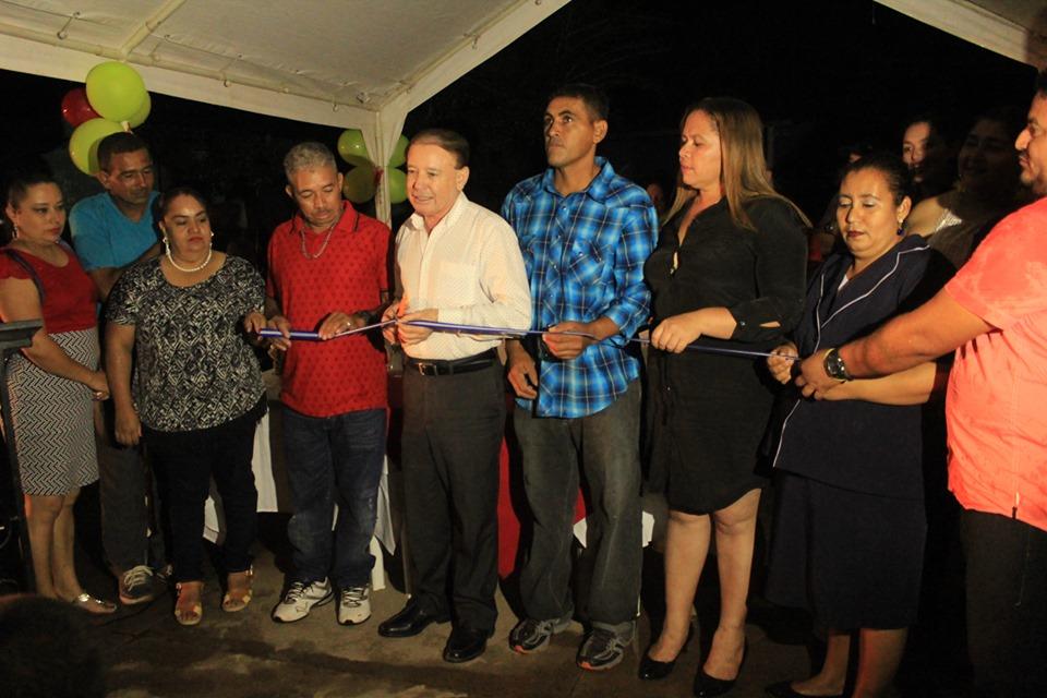 Alcalde de Comayagua inauguró varios proyectos en la comunidad de El Sauce