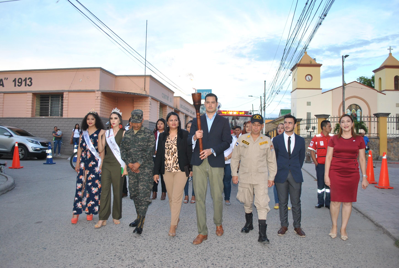Realizan ceremonia de llegada de la Antorcha de La Paz en Siguatepeque