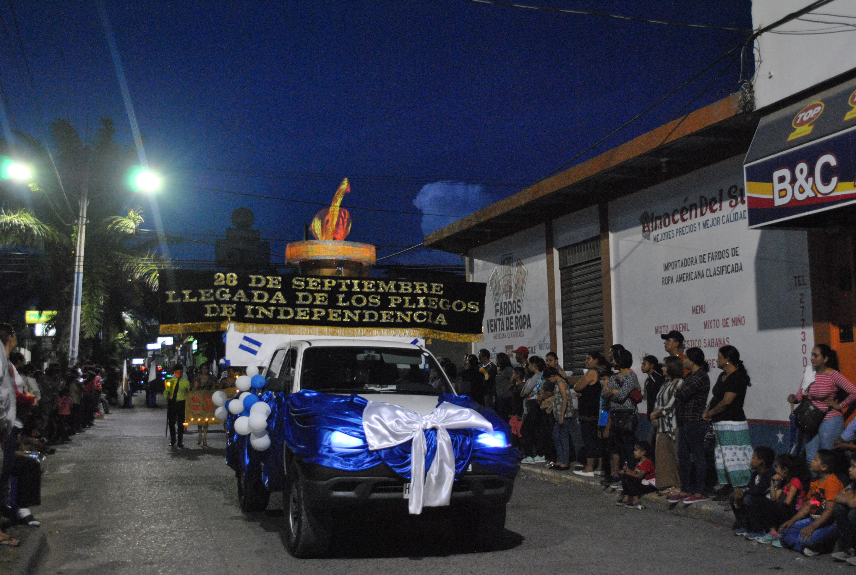 Siguatepeque conmemora la llegada de los pliegos de Independencia
