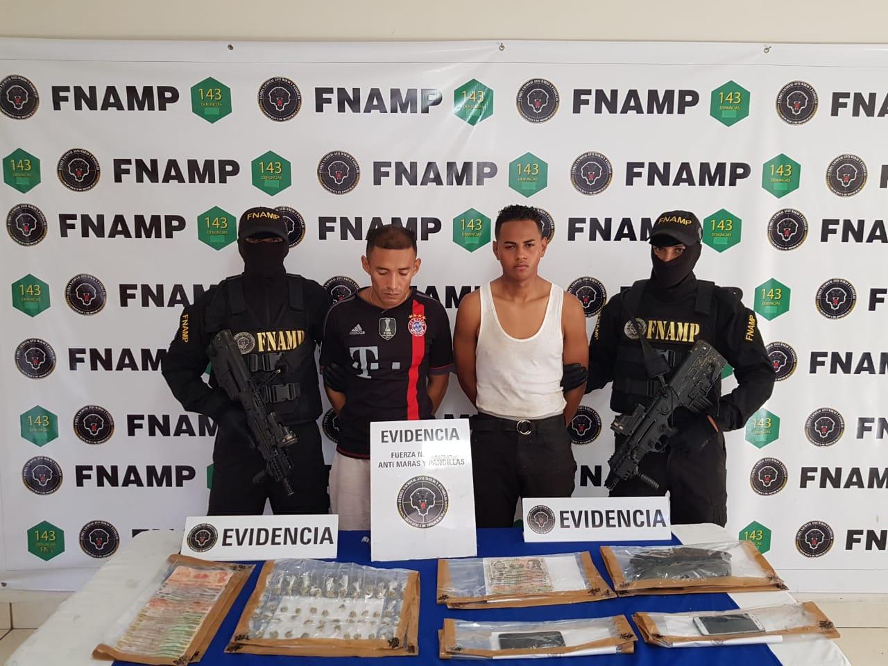 Se logra la captura de dos miembros de la Pandilla 18 dedicados a la venta y distribución de drogas