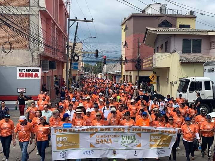 Desarrollan caminata «Hambre cero» en Comayagua
