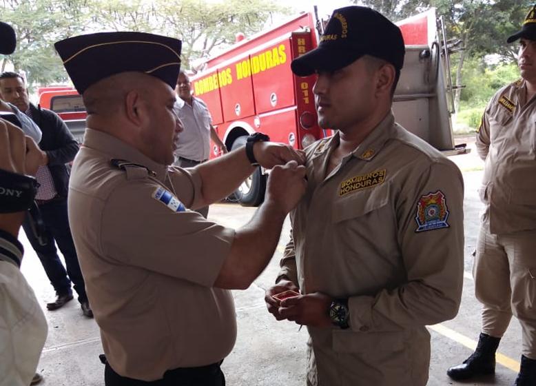 Reconocen labor de personal del Cuerpo de Bomberos de Siguatepeque