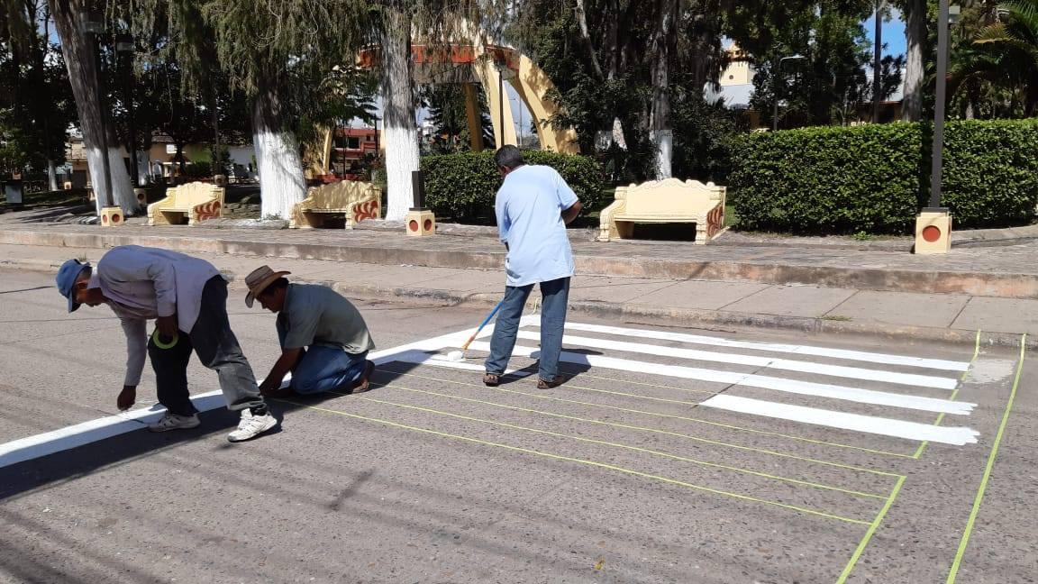 Realizan trabajos de señalización en Siguatepeque