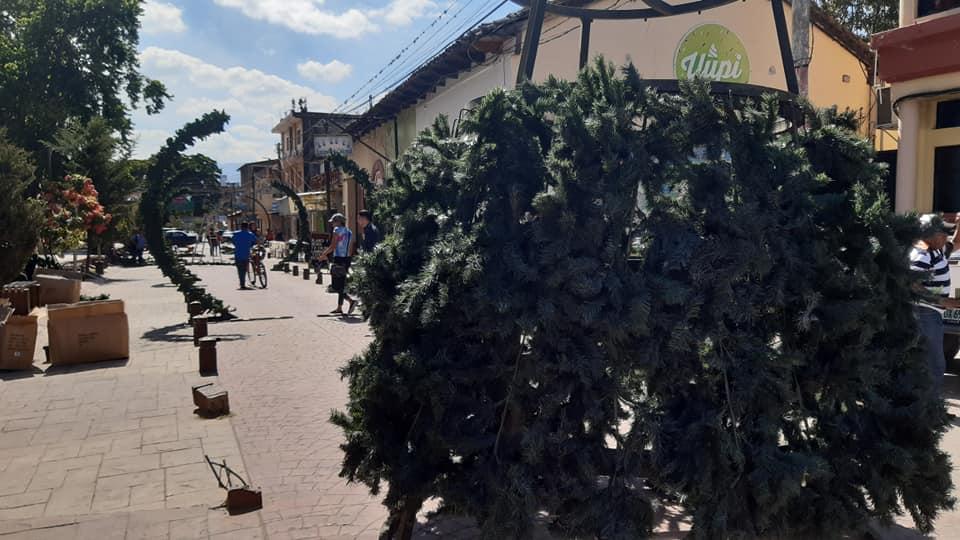 Inician preparativos de la «Villa Navideña» en Siguatepeque