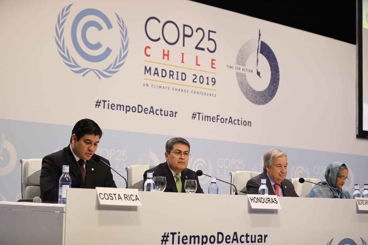 Presidente de Honduras  participa en Conferencia de Naciones Unidas sobre el Cambio Climático
