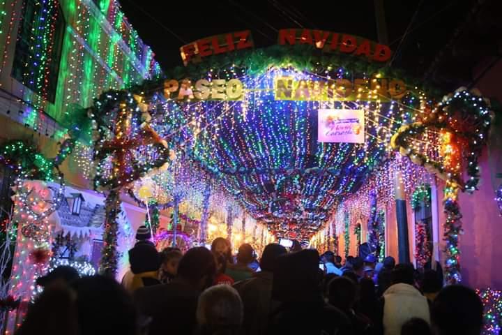 Inauguran «Paseo navideño» en Comayagua