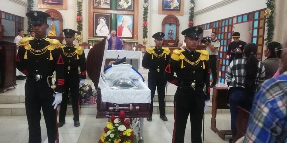 Despiden con honores a Sub Teniente de Infantería Cristhian Daniel Martínez