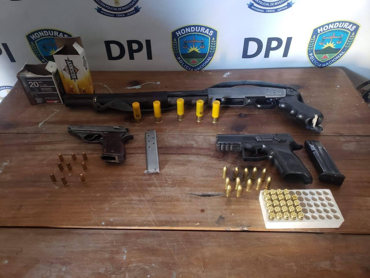91 detenidos y 32 armas de fuego decomisadas en la zona central Comayagua.