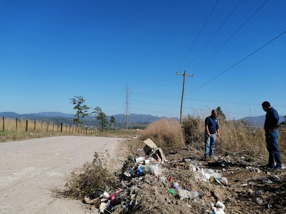 CODEM realizó operativos de limpieza en botaderos clandestinos en Siguatepeque