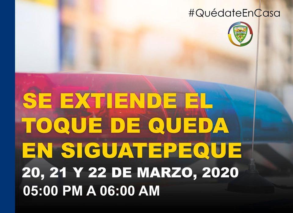 Extienden toque de Queda en Siguatepeque