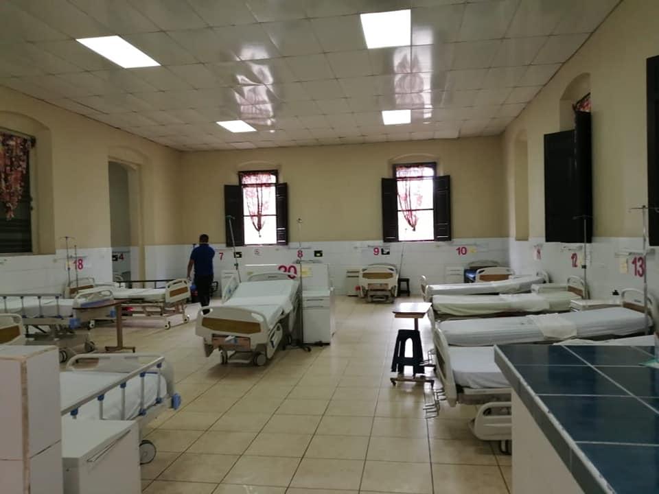 Listo el hospitalSan Felipe para recibir a los pacientes positivos de#COVID19.