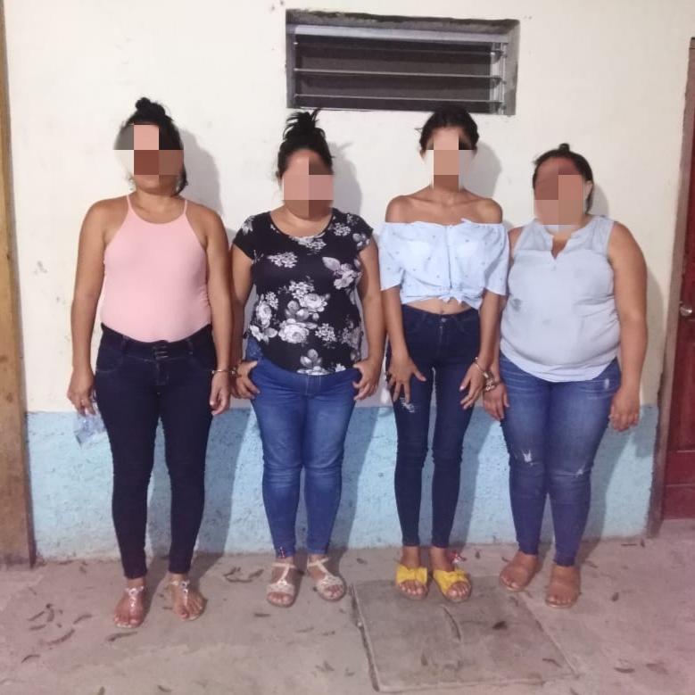 Cuatro mujeres sospechosas de robo agravado son capturadas en Comayagua