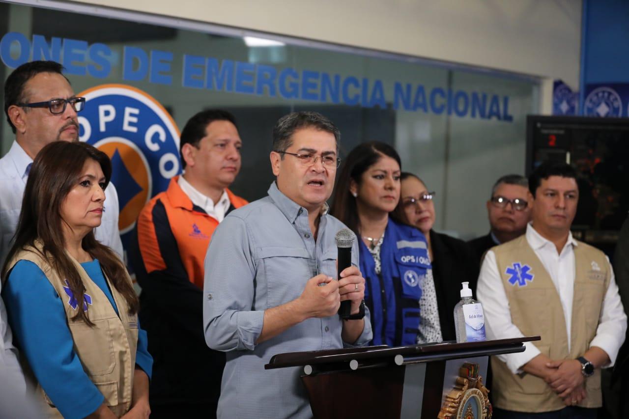Presidente Hernández anuncia nuevas medidas para contrarrestar el coronavirus