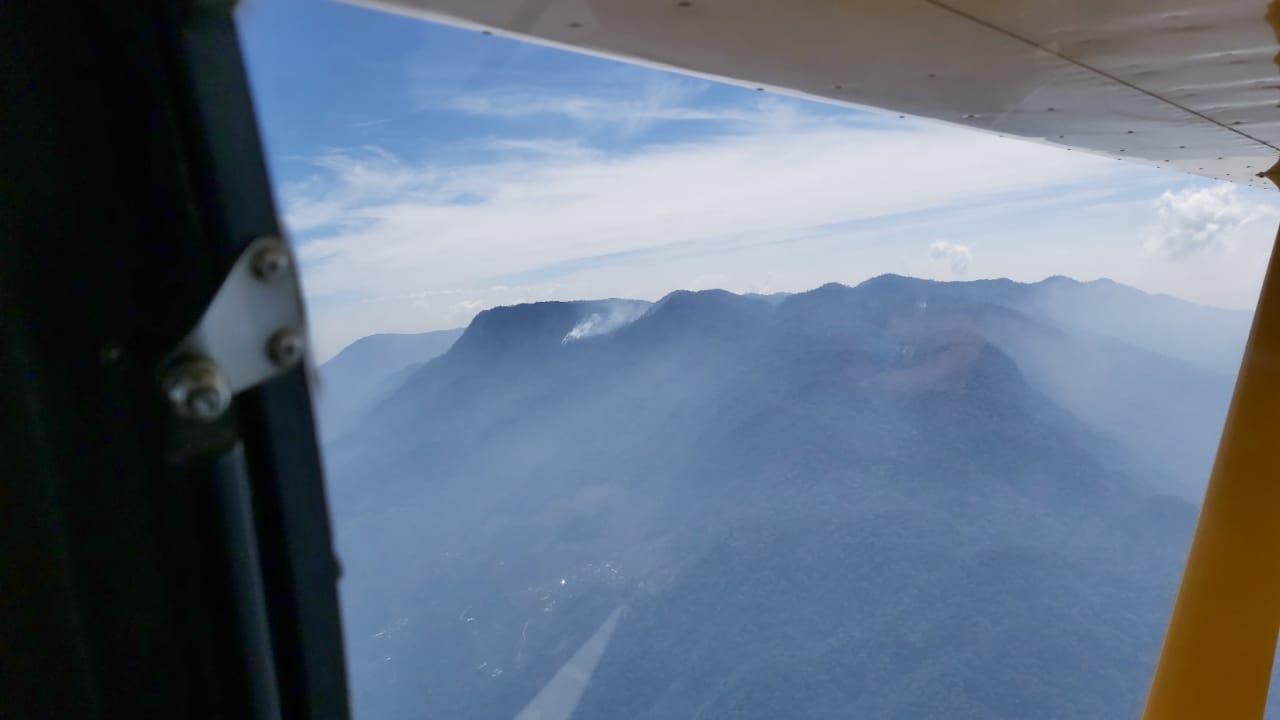 Activan el CONAPROFOR tras incendio forestal en el Parque Nacional Montaña de Santa Bárbara
