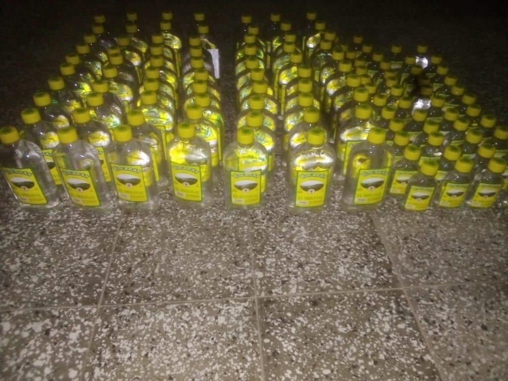 Bebidas alcohólicas decomisadas durante la Emergencia Nacional emitida por SINAGER