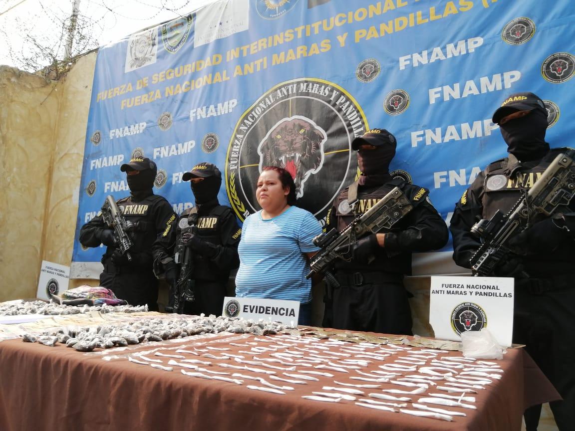 FNAMP detiene a una administradora del programa de venta y distribución de droga en Comayagua para la estructura criminal Mara Salvatrucha MS-13