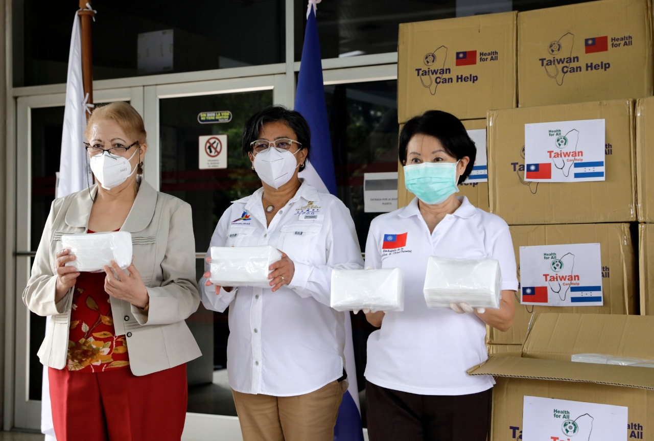 Taiwán dona 180.000 mascarillas quirúrgicas para personal del Hospital Escuela que combate el coronavirus