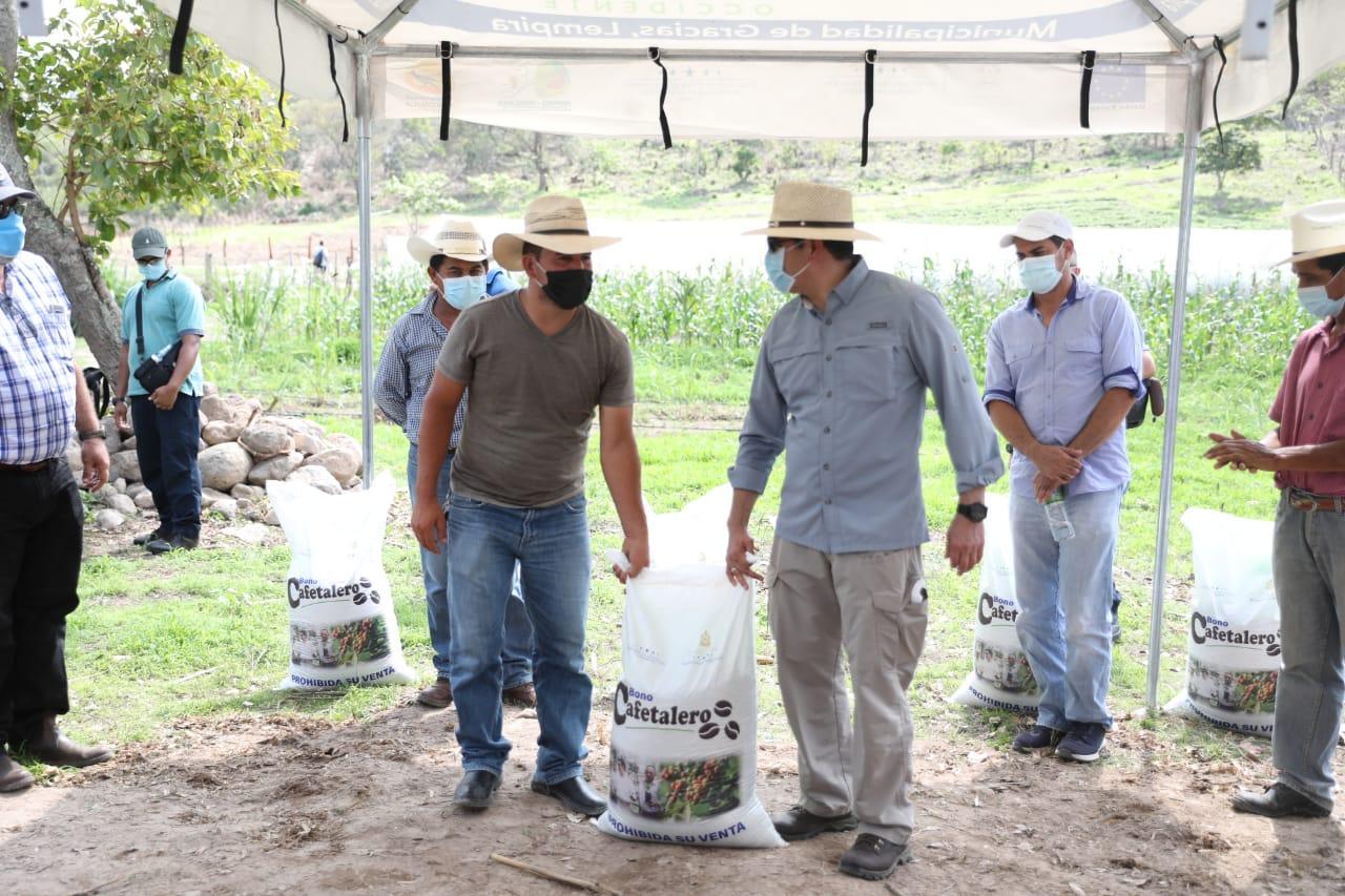 Presidente Hernández inicia entrega del Bono Cafetalero para más de 11.000 productores de Lempira