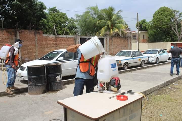 Instalan punto de desinfección para taxis en Comayagua