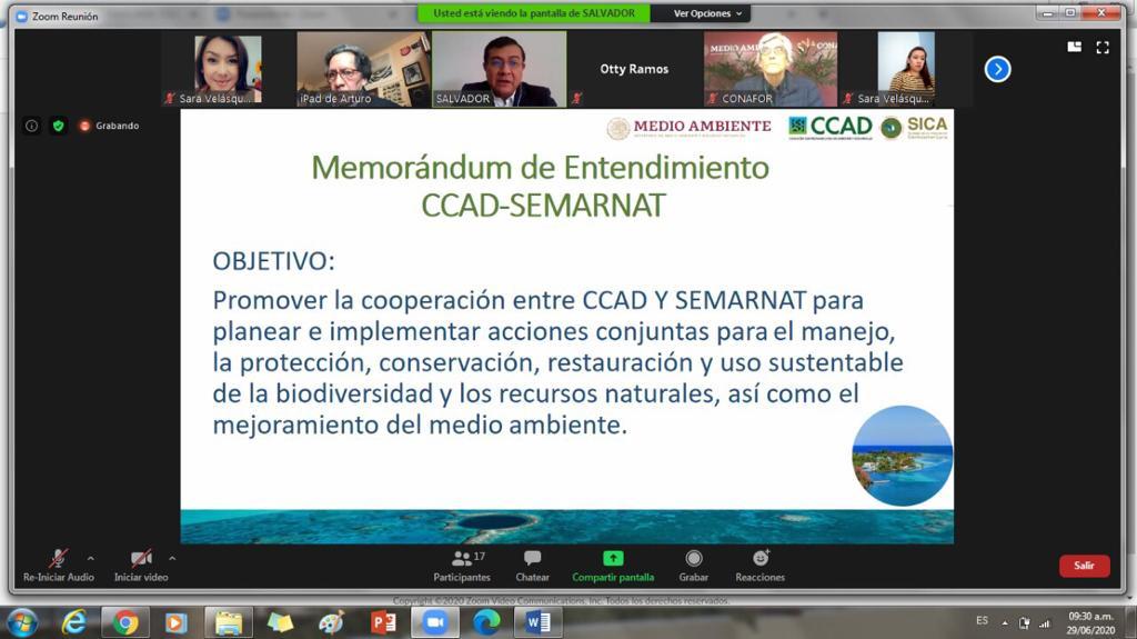 Firman de un Memorándum de Entendimiento se busca promover la cooperación para planear e implementar acciones a favor de los recursos naturales en la región mesoamericana.