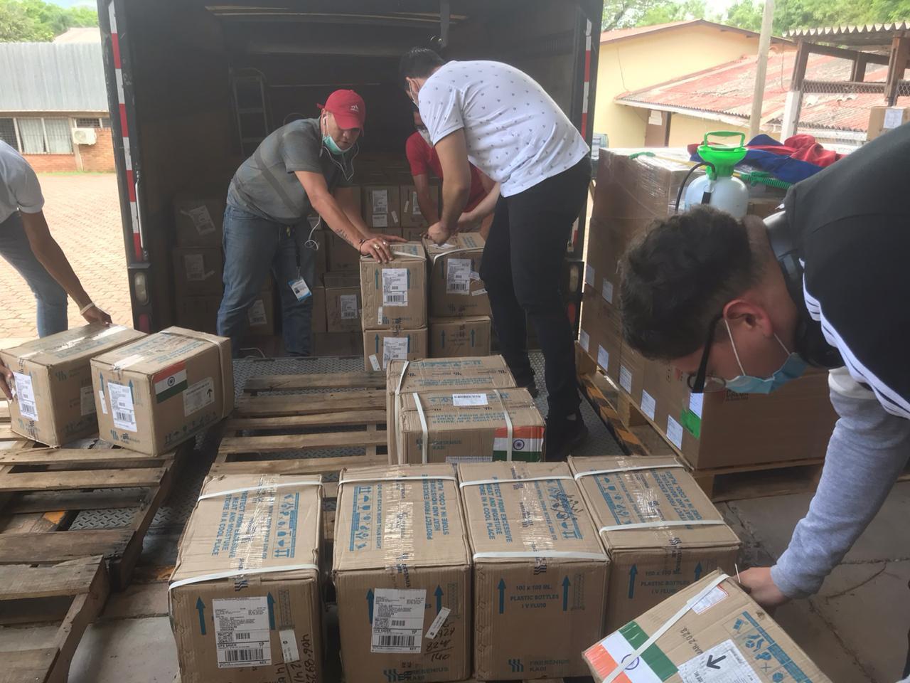 Honduras recibe la segunda entrega de la donación de medicamentos por parte de La India