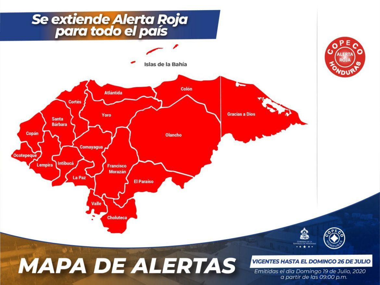 Se extiende Alerta Roja en todo el país