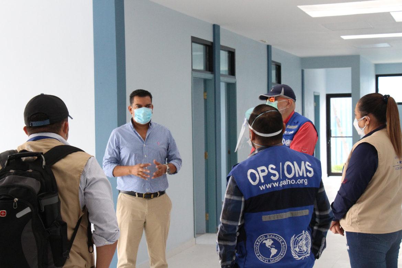 Comisión multidisciplinaria conformada por personeros de la OPS /OMS/ USAID acuden a la invitación del alcalde Morales para mostrarles las instalaciones del policlínico para dar fe de la necesidad que requiere en cuanto al equipamiento.