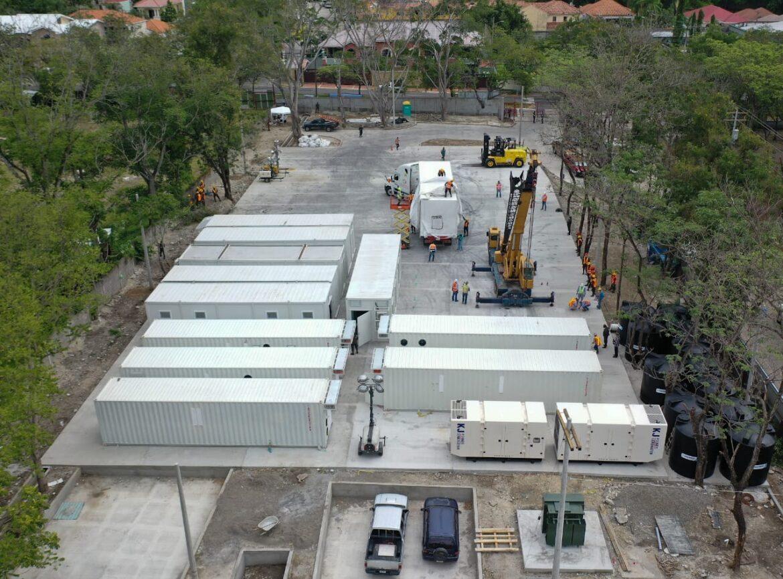 Instalación del hospital móvil de SPS avanza en el tiempo previsto