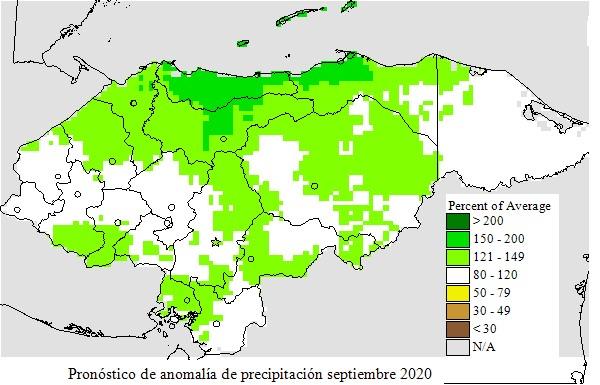Condiciones de Niña se esperan para el trimestre Septiembre, Octubre y Noviembre