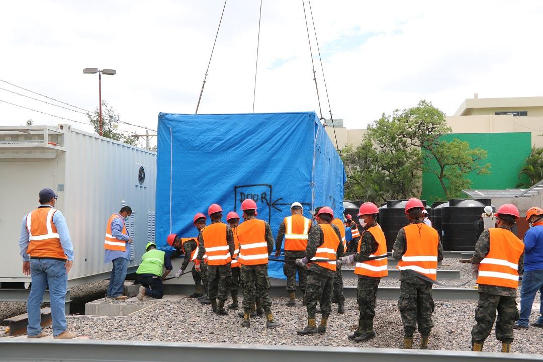 Se inicia proceso de instalación de Hospital Móvil en Tegucigalpa