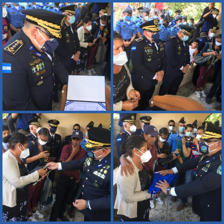 Con honores sepultan al Inspector de Policía Póstumo Carlos Vallecillo