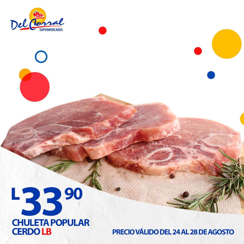 Precios especiales en pechuga de pollo y chuleta en Supermercados Del Corral. Productos seguros.