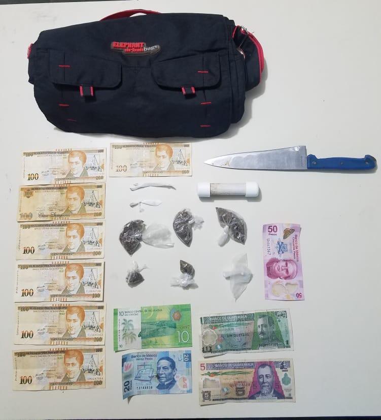 A la Fiscalía remiten joven detenido por tráfico de drogas