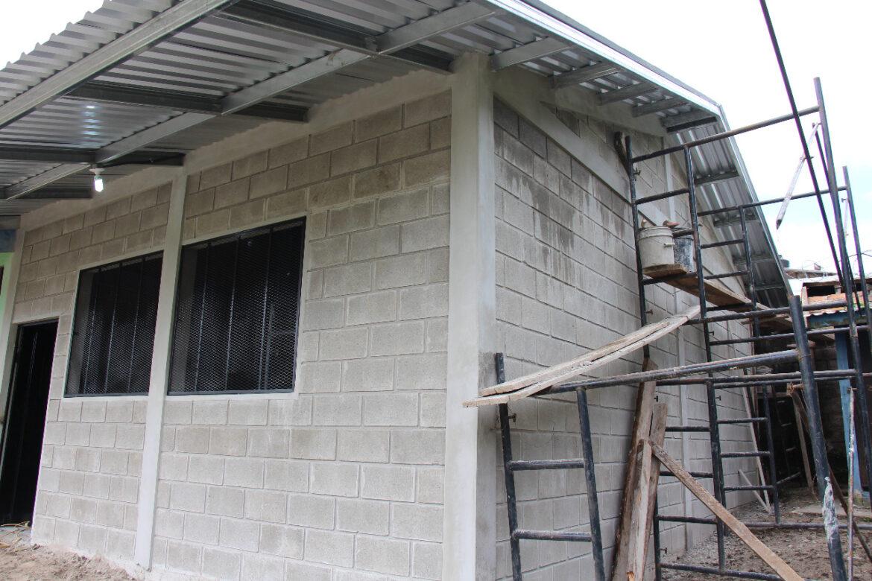 Inspección al proyecto de construcción módulo escolar que se ejecuta en Barrio San Ramón
