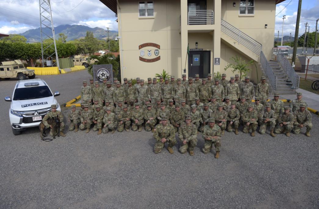 Compañía de Policía Militar de la Guardia Nacional de Puerto Rico a Soto Cano