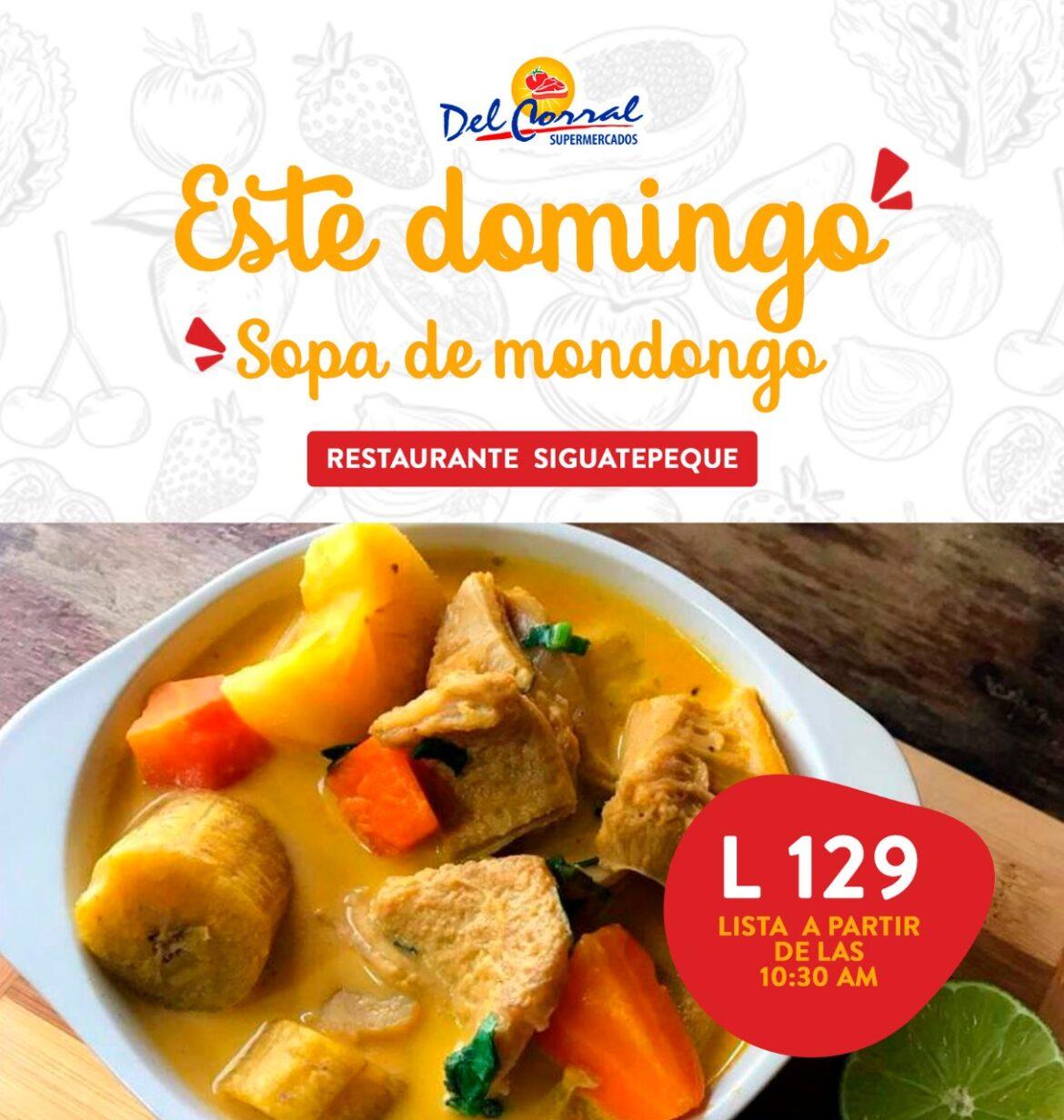 Supermercados Del Corral le ofrece este domingo deliciosa sopa de mondongo