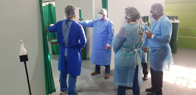 FONAC inspeccionó centro de triaje y estabilización en Comayagua