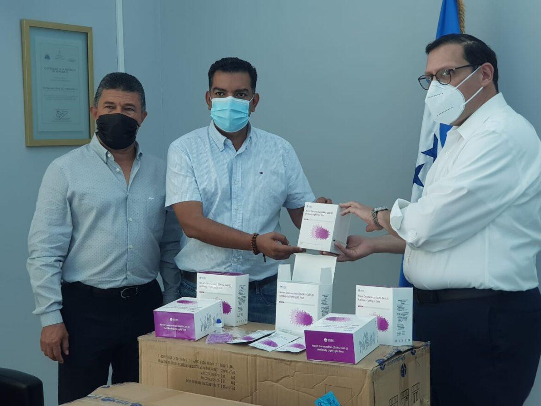 Alcalde de Siguatepeque recibe lote de  cinco mil pruebas rápidas para detectar COVID-19