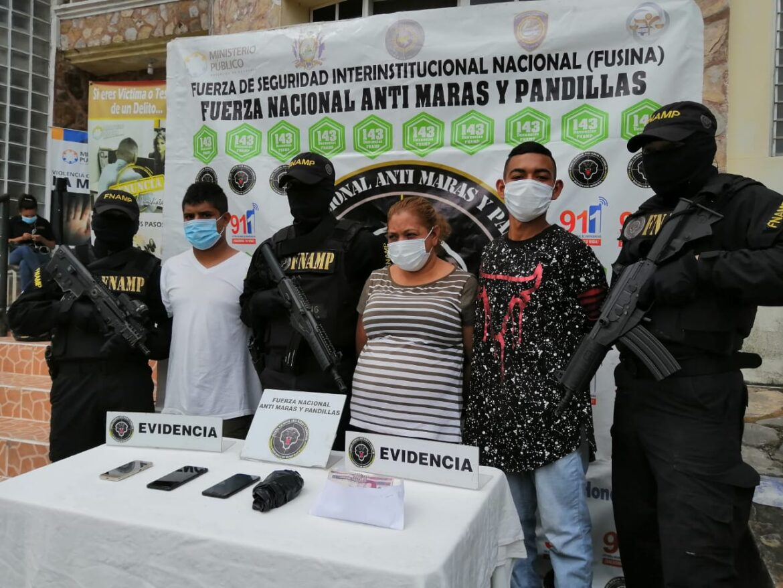 FNAMP detiene a tres miembros de la Mara Salvatrucha MS-13 dedicados al cobro de extorsión en Siguatepeque