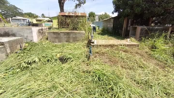 Alcaldía de Comayagua realiza limpieza masiva en el cementerio general