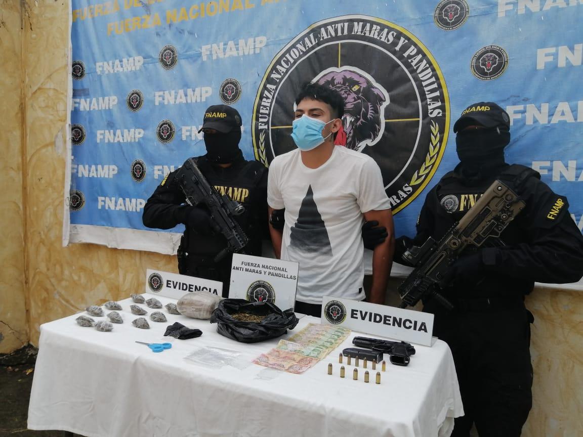 FNAMP detiene a peligroso miembro de la Pandilla 18 dedicado al tráfico de drogas, cobro de extorsión y robo a mano armada