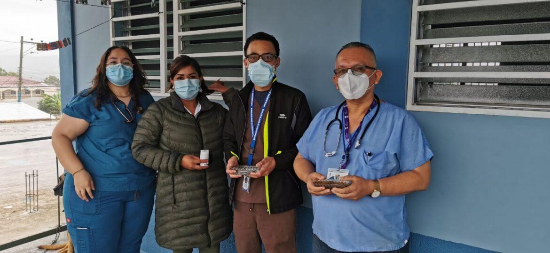 Continúa la donación de medicamentos de uso intrahospitalario en centro de triaje de Siguatepeque