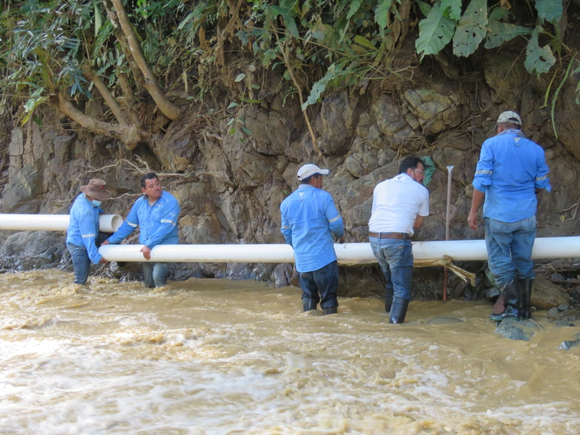 Después de arduas jornadas de trabajo «Aguas de Comayagua» restablecerá gran parte del servicio en los próximos días