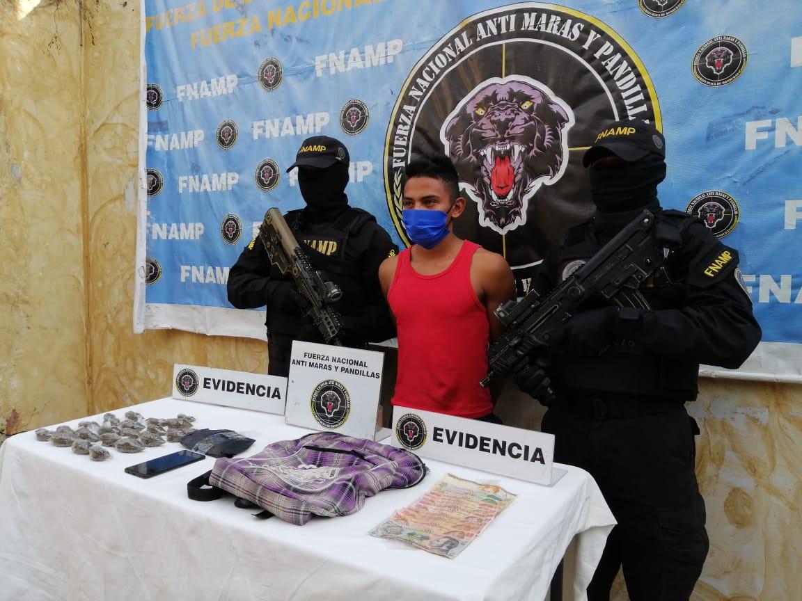 En dos operaciones simultáneas la FNAMP detiene a dos miembros de la Organización Criminal Mara Salvatrucha MS-13 dedicados al tráfico de drogas en el municipio de San Jerónimo