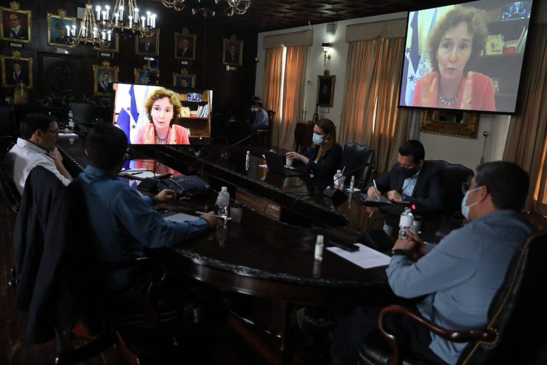 Presidente Hernández plantea al G-16 situación del país después de tormentas Eta y Iota