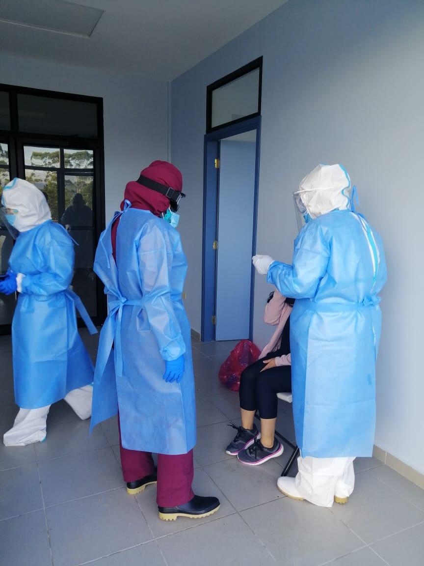 Secretaría de salud realizó 34 muestras de hisopado nasofaríngeo PCR