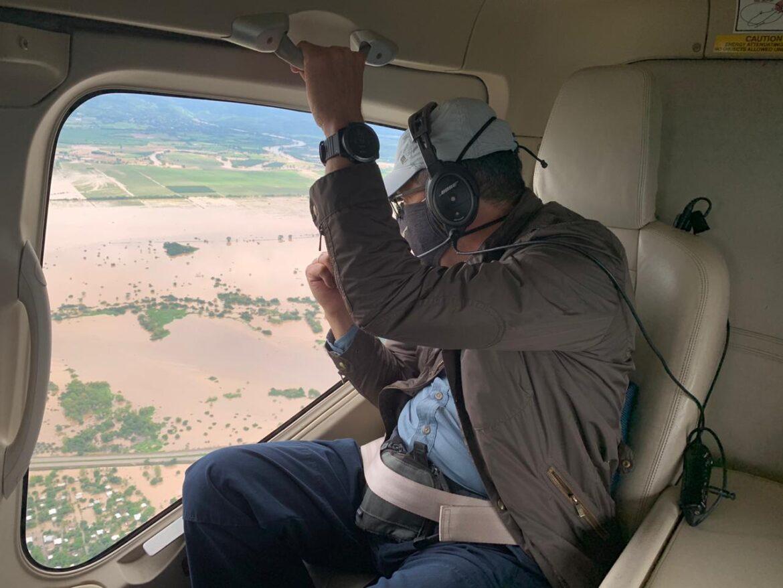Presidente Hernández evalúa situación de emergencia en el Valle de Sula con grupo de alto nivel