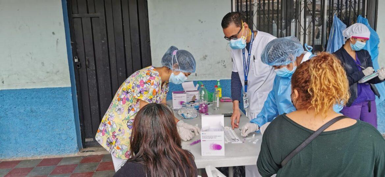 Realizan tamizaje poblacional en barrio El Parnaso y centro de salud «Gustavo Boquín»