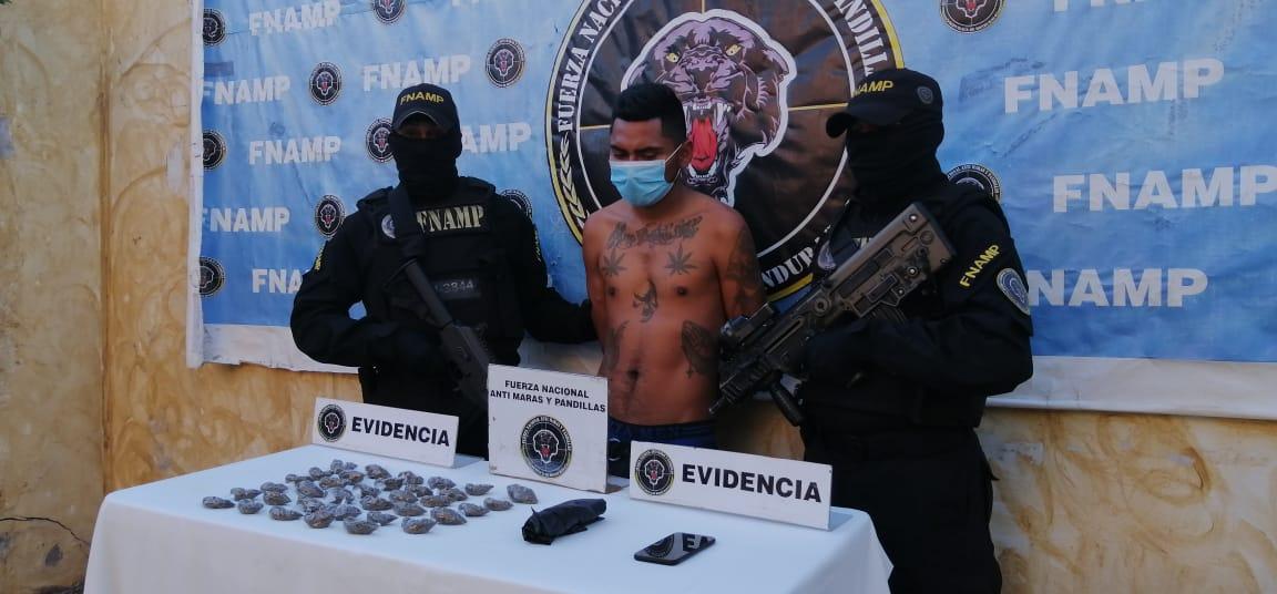 Mediante operación de investigación e Inteligencia le dieron detención a un miembro de la Pandilla 18 dedicado a la venta y distribución de drogas