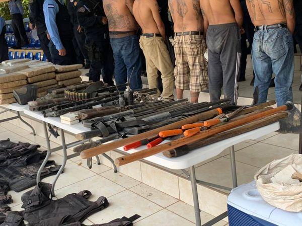 Unidades de investigación desmantelan campamento de entrenamiento de sicarios de la Mara Salvatrucha (MS-13)*